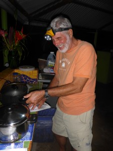 Bill Cooking Conch Fritters