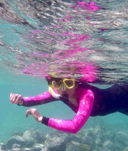 Rachel snorkeling in Francis Bay on St. John