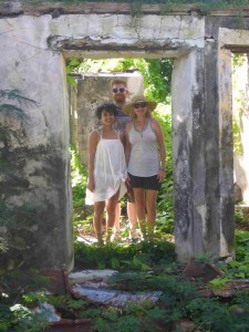 Exploring ruins on St. John