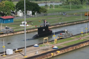 Submarine in the Canal